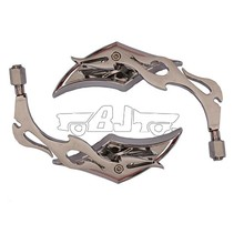BJ-RM-005 Top quality aluminum diamond style flame stem mirror motorcycle