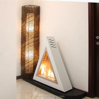 2013 free standing bio ethanol table fireplace / table glass ethanol fireplace