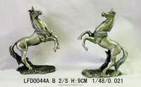Home and shop decoration colorful art animal model antique bronze horse sculpture