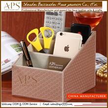 High quality office leather desk organizer, desk set