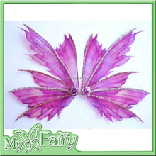 FW-15 2015 New fashion Lavender Color Party fancy Butterfly Wings for Kids Glitter Maple leaf-shape Fairy Wings for Girls