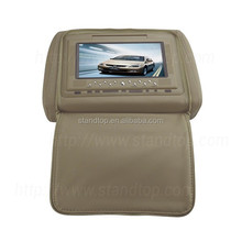 7 inch cloth dvd player headrest car monitor with zipper cover