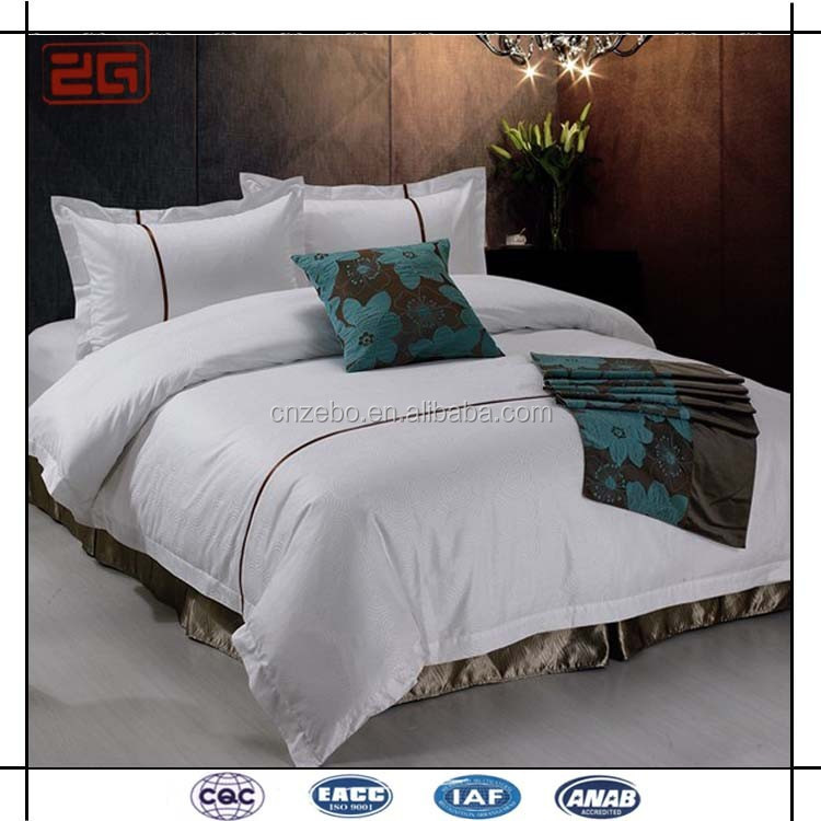 Wholesale Cotton Star Hotel Used Bed Sheets White Bed