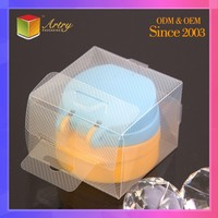 Wholesale Custom PVC/PET Thin Rectangular Small Clear Hard Plastic Packaging Box With Hinged Lid