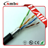 Direct Burial Waterproof Outdoor Oil Filling 1000ft 24AWG armoured cat5e cable