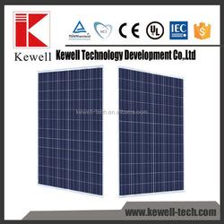 TUV CE ISO IEC ETL MCS certificates 295 watt poly solar panel for home solar system