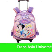Hot Sale custom logo rolling school bags girls