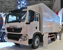 HOWO T5G heavy cargo van truck for sale refrigerated cold room van truck