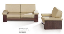 Suodi A117wooden frame fabric lounge commercial coach