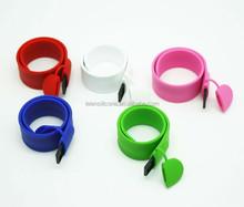 New design silicone bracelet Usb flash drive, OEM logo printing slap bracelet usb memory stick, 4gb, 8gb, 16gb