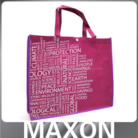 Guangdong factory high quality non woven bag with packet foldable for clothing