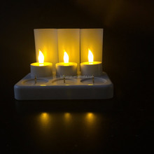 BSCI certification 6 LED hot selling Rechargeable Candle Lights with CE&ROHS,export for super market in german
