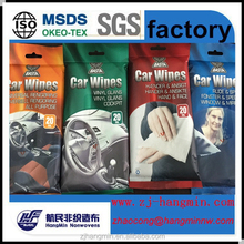 Yes Alcohol free and Spunlace nonwoven Material car interior seat leather Cleaning Wet wipes