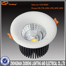 2015 high brightness round recessed 80mm cut out led downlight