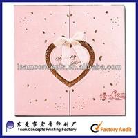 Heart Shape Handmade Wedding Greeting Card