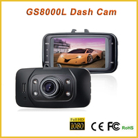 Hot!!2.7'' LCD Full HD 1080P Practical Car Auto Black DVR Camera car dvr GS8000L camera for car dash vehicle camera