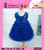 Fashion Handmade Paillette Lace Wedding Dress Custom Sleeveless Layered Dress Kids Girls Party Dress Design