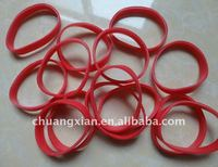 synthetic red rubber bands, , synthetic rubber.