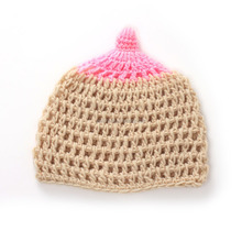 2015 New Winter Children baby crochet knit wool cap style onion shape photography prop infant toddler baby boy girl knit hat