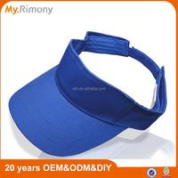 Various color oem sample free cotton sun visor hats