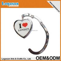 Custom foldable fashional heart shape bag hanger