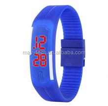 2015 Fashion ladies bracelet wrist watch waterproof Touch Digital Jelly Silicone Bracelet LED Sports Wrist Watch