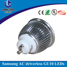 Langma driverless ac cob spotlight led 6w gu10 led replacement 50w halogen