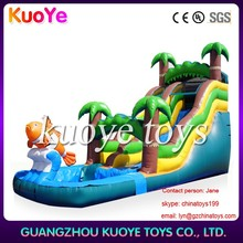 fish water slide inflatable,inflatable pool with slide,24ft water slide inflatable
