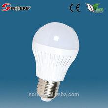 nueva led de la lámpara de plástico bombilla e27 portalámparas bombilla led e27