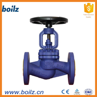 Bellows sealed pn16 flange auto water shut off globe valve