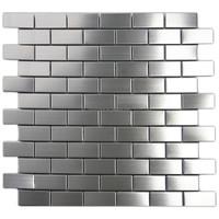 Silver stainless steel mosaic tile kitchen metal mosaic backsplash tiles
