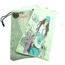 Custom Drawstring Bag, Microfiber Phone Pouch