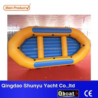 8 persons double layers 1.8mm pvc inflatable self-bailing rafting boat with CE
