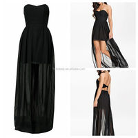 2015 New custom made black elegant evening dress promotional online shopping