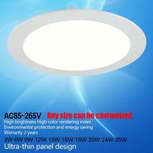Aluminium led panel light 3W/6W/9W/12W/15W/18W/24W