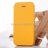 Classic PU Leather Flip Case For iPhone 5S