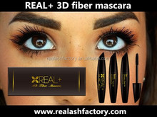 Happy REAL PLUS 3D fiber mascara/private label 3D fiber lash mascara/feg eyelash enhancer
