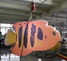 Multi - couleurs gonflable poissons d'éclairage pour la décoration de la scène