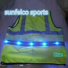 MOQ:10pcs!!! Flashing LED Safety Vest/Night Safety Vest/Led flashing safety vest Reflective safety suit