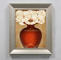 Madeira emoldurado de alta qualidade pintura a óleo natural imagens de flor