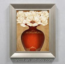 Wood framed high quality natural oil painting pictures of flower