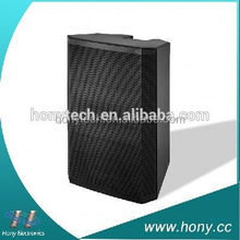 2.0 floor standing speaker for stage karaoke or outdoor activities with built in amplifer, USB, SD, bluetooth, FM radio, remote