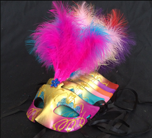 Feather party masquerade mask beauty princess Halloween masks