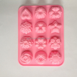 popmolds cheap Silicon Moulds Cake star flower mold Multi-functional Customized chocolate ice Family Microwave Use