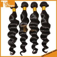 100% Guarantee Human Hair Brazilian Virgin Hair 5A Grade 18 inch 3pcs/Set Natural Color 1B Loose Wave Funmi Wavy Hair Extension