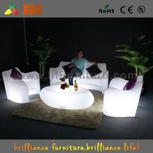 Bar furniture led bar sofa, illuminated led sofa, plastic led sofa