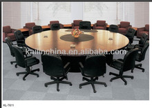 T611 modern conference table solid wood round shape good quality trade assurance customized office meeting desk design