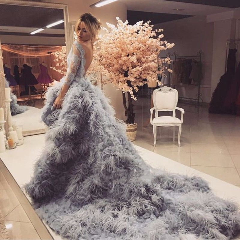 Nw1154 Hot Luxury Customize Ostrich Feather Wedding Dresses Backless Bridal Gowns - Buy Ostrich Feather Wedding Dresses,Backless Bridal Gowns,Short ...