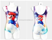 One piece Super Mario print 3D digital printed sexy teenage triangl swimwear women CYQ1153