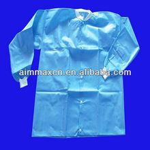 nonwoven chemical resistant lab coats with long sleeve